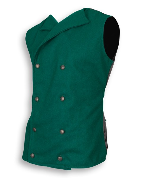Hamish vest wool green Limited Edition