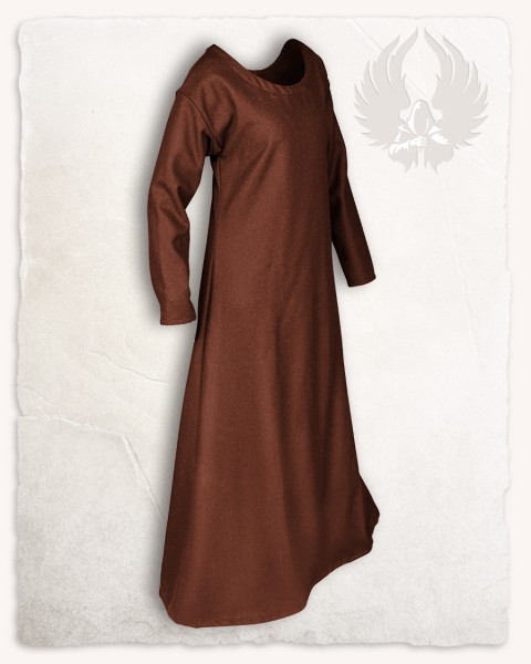 Lenora ladies tunic wool brown
