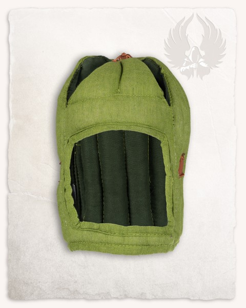 Aulber padded coif closed linen moss green LIMITED EDITION