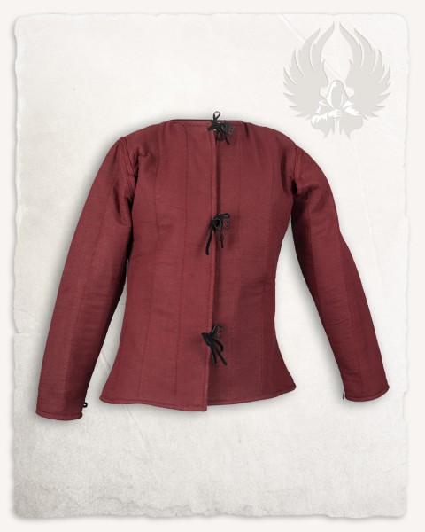 Aulber gambeson jacket linen red LIMITED EDITION
