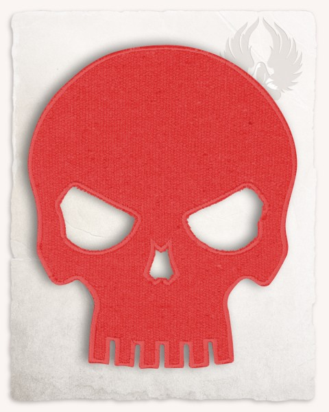Skull patch large red discontinued