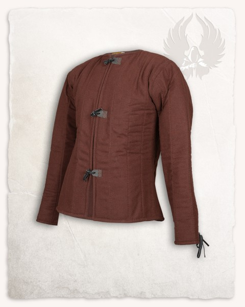 Aulber gambeson jacket wool brown