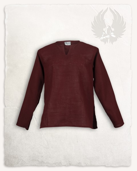 Rurik shirt linen burgundy LIMITED EDITION