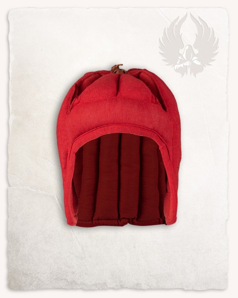 Aulber padded coif open linen red LIMITED EDITION