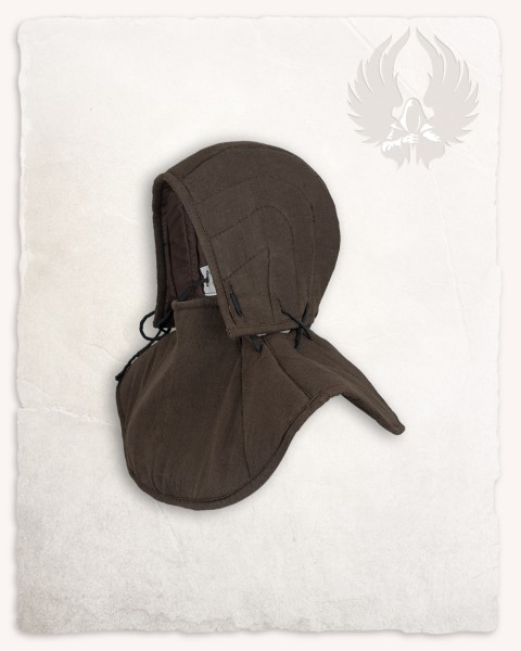 Aulber padded collar with coif linen brown